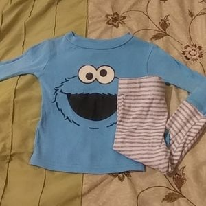 Girls Sesame Street Pajamas Set
